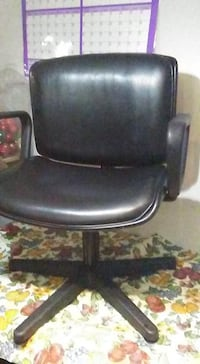 Black leather stylists hair wash chair  London