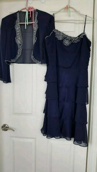 2 piece navy blue dress with jacket size 18P  Mississauga, L5B