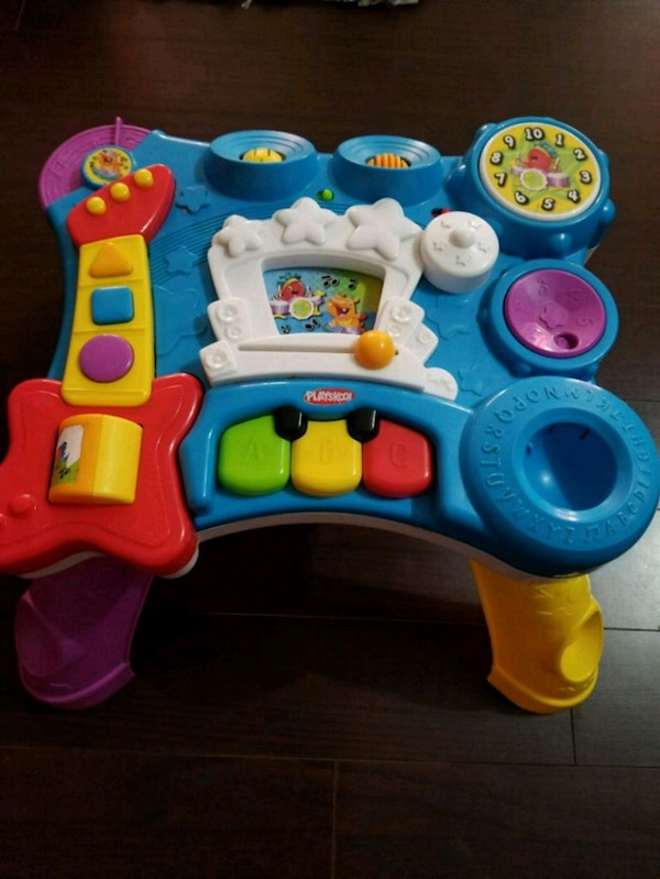 toddler's assorted color plastic toys