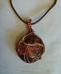 Hand made wire wrapped pendant