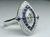 Silver Ring with Blue Sapphire  Toronto