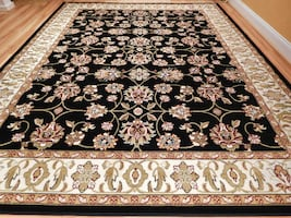 New Black Traditional area rug New 5x8