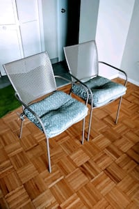 Set of 2 indoor outdoor chairs outdoor cushions Toronto, M6H 2W9