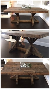 6FT x 3FT Solid Wood Rustic Farmhouse Dining Table Pleasant Hill