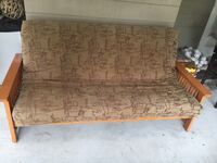 Brown and black floral fabric sofa Longwood, 32750