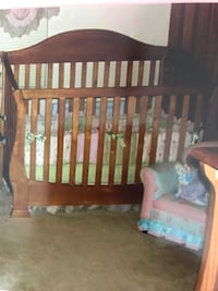 Convertible crib with mattress and dresser from buy buy baby Bristow, 20136