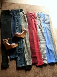 two blue and red denim jeans Winnipeg, R2W 2E1