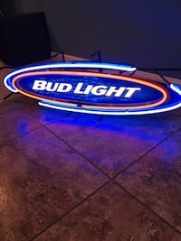 blue and white Bud Light neon light signage Perry Hall, 21128
