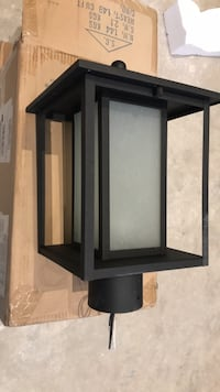 Exterior Post light.  Toronto, M6L 2T1