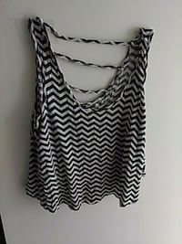 black and white chevron crop top Salisbury, 21804