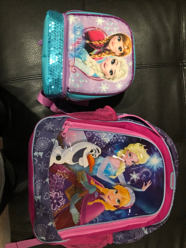 Frozen backpack and lunchbox