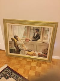 brown wooden framed painting of woman Montréal, H8Y 3J5