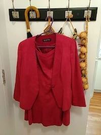 red coat and red midi skirt Laval, H7W 2P2