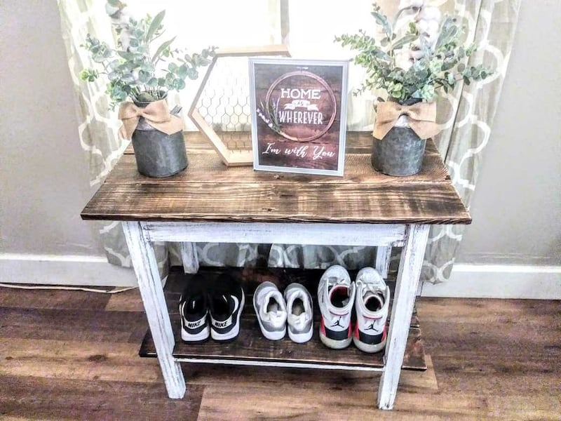 Rustic Farmhouse Entry Table 80bf7f52-7e0d-46b1-a991-184859f7797c
