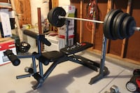 weight bench with 300 lb COLUMBIA