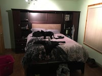 queen bed frame and dresser