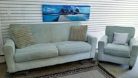 Blue couch and chair . Delivery is extra  Edmonton, T6H 2S9