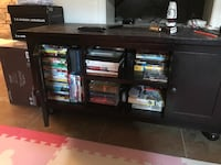 black wooden TV stand with cabinet Arlington, 22204