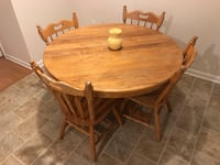 Kitchen table with four matching chairs  Lynchburg