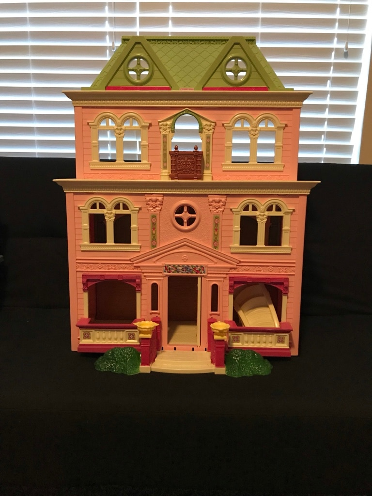 brown and white plastic dollhouse for sale  Richmond Hill