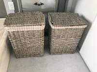 Two wicker lined hampers New Tecumseth, L9R 1E5