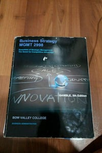 Business Strategy textbook Calgary, T1Y 6A6