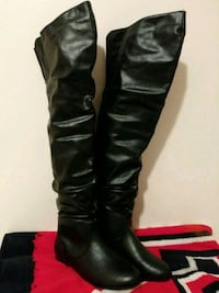 Thigh-high boots, size 8 1/2. $20.00.