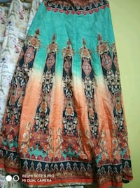 green and brown floral long-sleeved dress Dehradun
