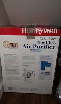 Honeywell air purifier, purifies air to help with allergies and cold