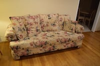 Large Floral Fabric Sofa