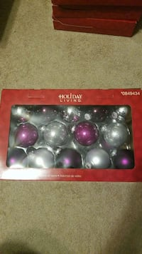 Purple and Silver Glass Ornaments Wallingford, 06492