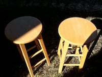 two brown wooden bar stools 1194 mi