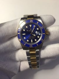 Round blue rolex submariner watch 2-tone  Toronto, M9W 4A8