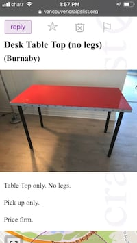 Ikea Highgloss red table