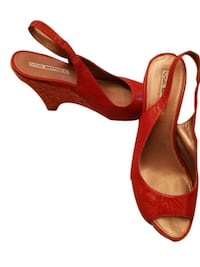 Via Spiga Orange Cork Sandals, 7 Edison