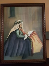 Painting  on canvas with brown wood frame Oshawa, L1K 2X4