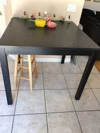 rectangular black wooden table with two chairs Las Vegas, 89147