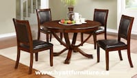 Brand new 5pcs Solid Wood Round Dinette Toronto