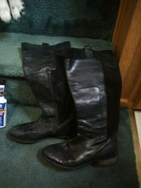 black leather/suede boots (8.5) Milwaukie, 97267