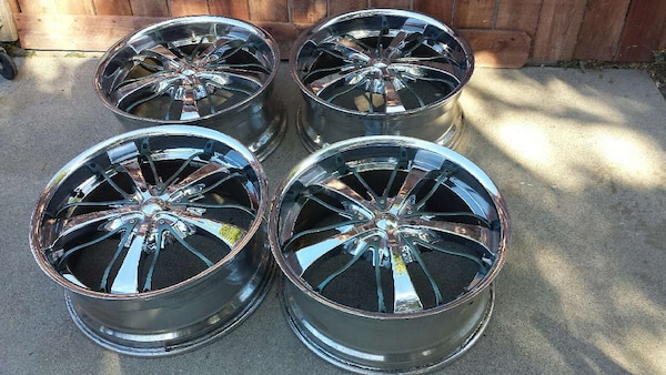 Used 20 inch Chrome rims Wheels by Diablo 5 lug for sale in Los ... e8339db370