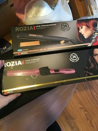 two black and red hair flat iron boxes 戴蒙德巴, 91765