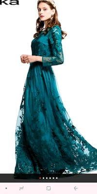 women's teal and brown floral abaya dress Silver Spring, 20902
