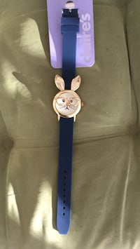 round silver-colored analog watch with blue strap Pace, 32571