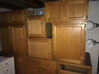 Brown wooden cabinet with hutch Detroit, 48227