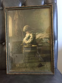 Antique picture with golden frame 科奎特兰