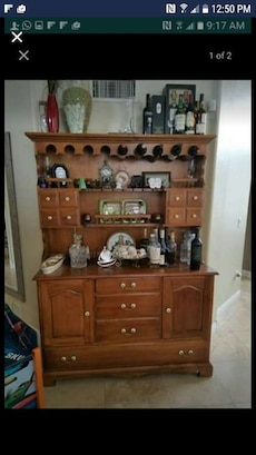Brown Wooden Bar Counter Cabinet In Chandler Letgo
