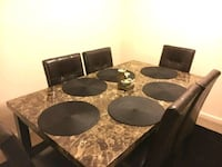 Brand New 7 Piece Faux Marble Dining Set  Silver Spring, 20902