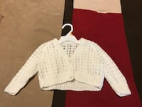 Toddler's white sweater. Size 3-6 months. Worn once Charles Town, 25414