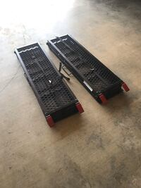 Foldable Steel Ramp, 78 In. Set of two Clinton, 39056