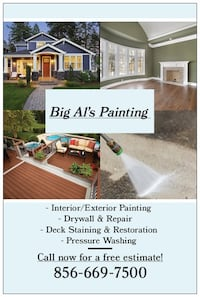 Interior painting/Exterior Painting Cherry Hill